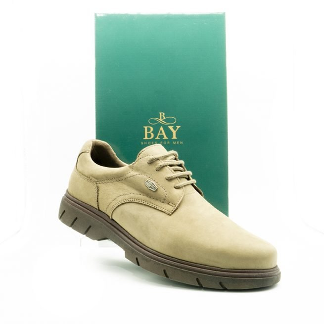 Zapatos Derby impermeables e hidrofugados. Modelo c510 Caqui Gris.