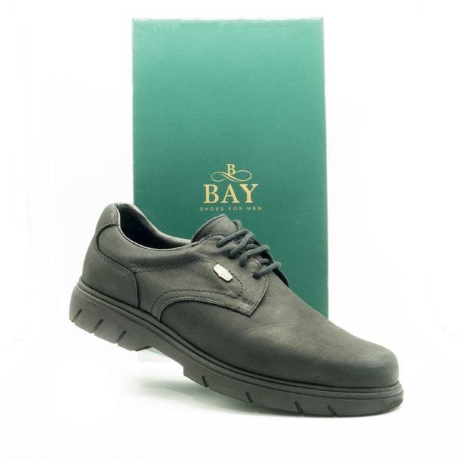 Zapatos Derby impermeables e hidrofugados. Modelo c510 negro. Zapatos BAY Mallorca.