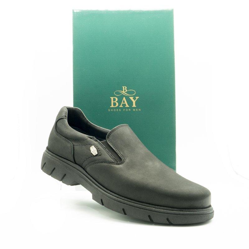 Mocasín impermeables e hidrofugados. Modelo c511 color Negro. Zapatos BAY Mallorca.