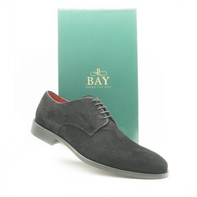 Derby acabado en ante. Zapatos impermeables, hidrofugados y termosellados. BAY Mallorca, modelo 20968