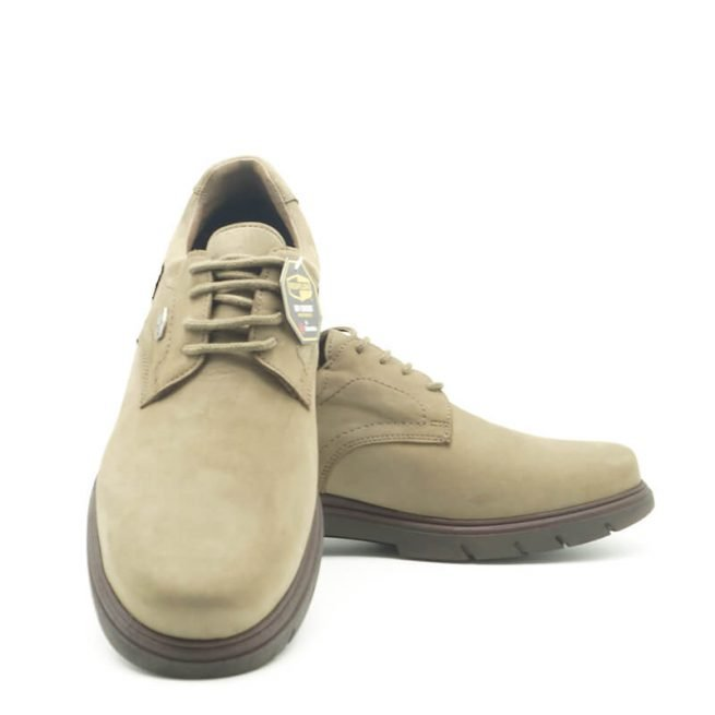 Zapatos Bay, casual con cordones hidrofugado modelo C510, color khaki-gris 2.